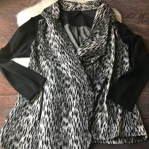 Lane Bryant Sweaters - Lane Bryant | Leopard Print Draped Cardigan Jacket